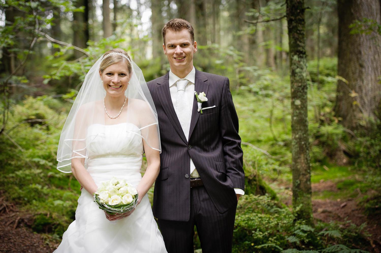 Brautpaar beim Shooting im Wald über Dornbirn in Vorarlberg