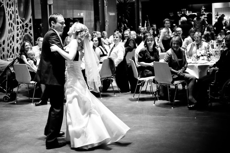 Hochzeitstanz in der Inatura Dornbirn bei Walzer Musik.